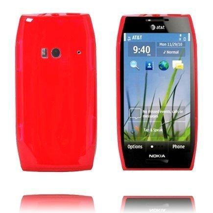 Amazona Punainen Nokia X7 Silikonikuori