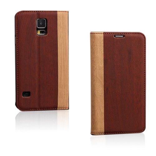 Amazona Punainen-Ruskea Samsung Galaxy S5 Nahkakotelo