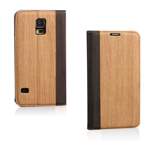 Amazona Vaalea Ruskea Samsung Galaxy S5 Nahkakotelo