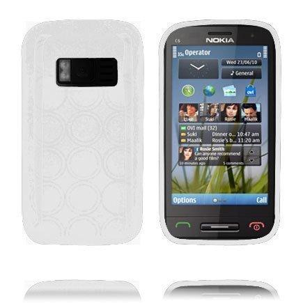 Amazona Valkoinen Nokia C6-01 Silikonikuori