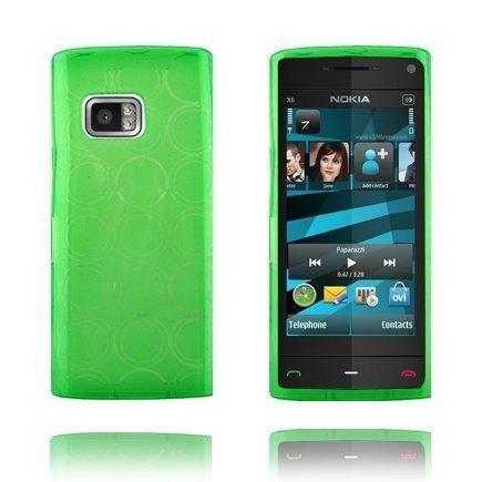 Amazona Vihreä Nokia X6 Silikonikuori