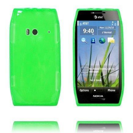 Amazona Vihreä Nokia X7 Silikonikuori