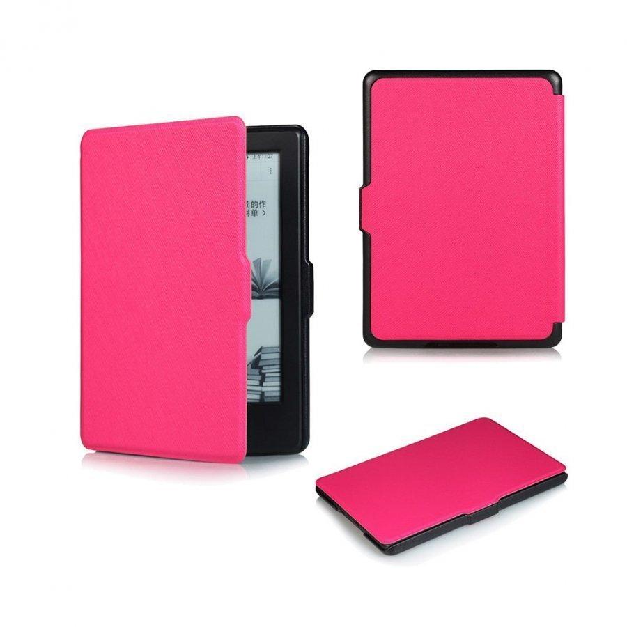 Amdrup Amazon Kindle 2016 Ohut Nahkakotelo Kuuma Pinkki