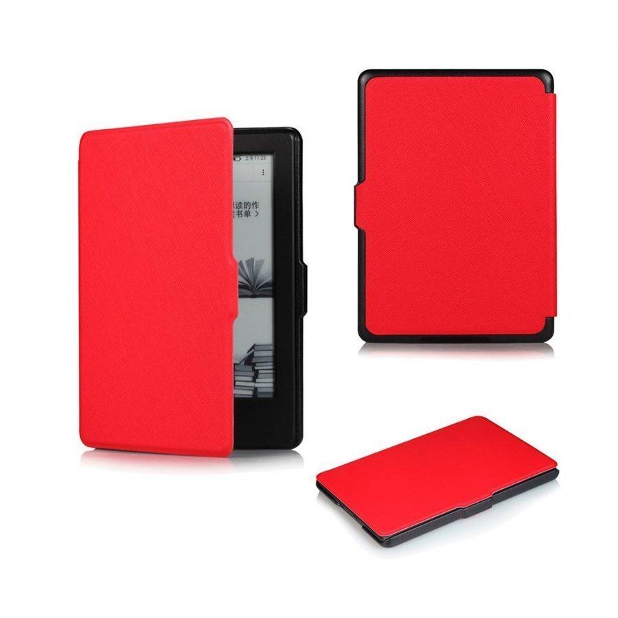 Amdrup Amazon Kindle 2016 Ohut Nahkakotelo Punainen