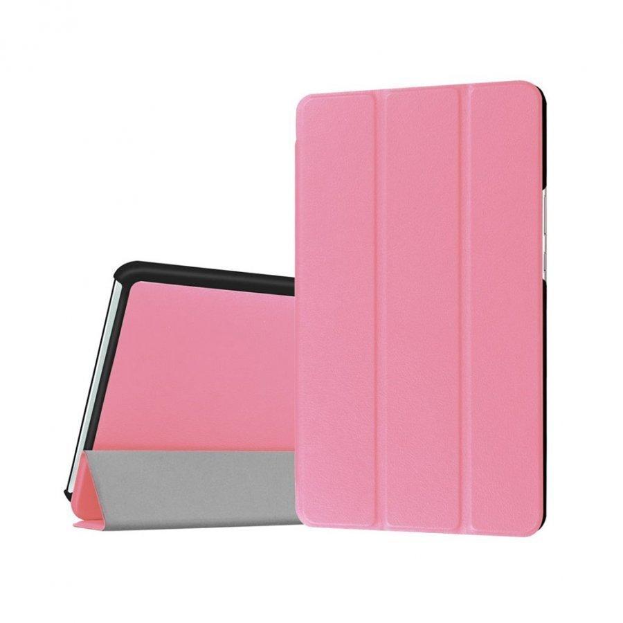 Amdrup Huawei Mediapad M3 8.4 Kolmesti Taittuva Nahkakotelo Pinkki