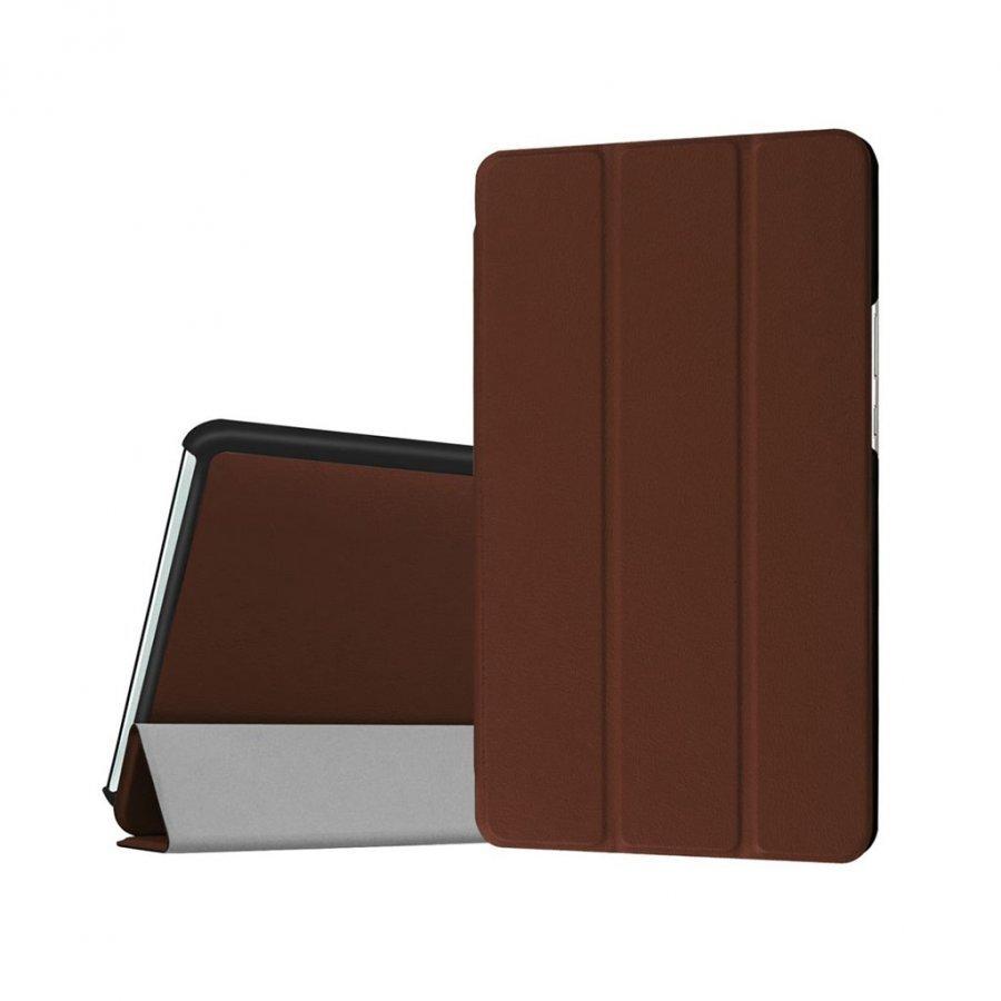 Amdrup Huawei Mediapad M3 8.4 Kolmesti Taittuva Nahkakotelo Ruskea