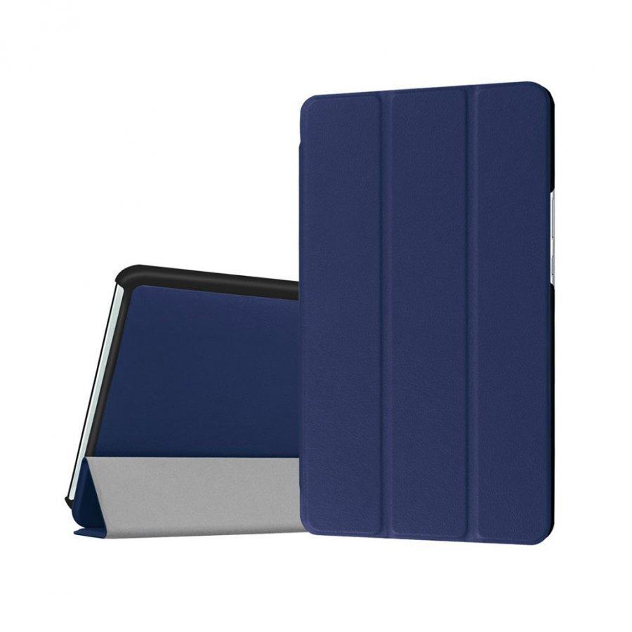 Amdrup Huawei Mediapad M3 8.4 Kolmesti Taittuva Nahkakotelo Tummansininen