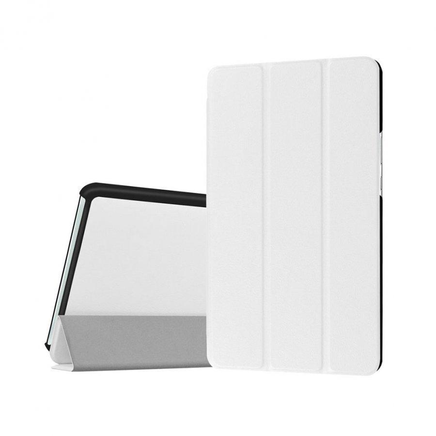 Amdrup Huawei Mediapad M3 8.4 Kolmesti Taittuva Nahkakotelo Valkoinen