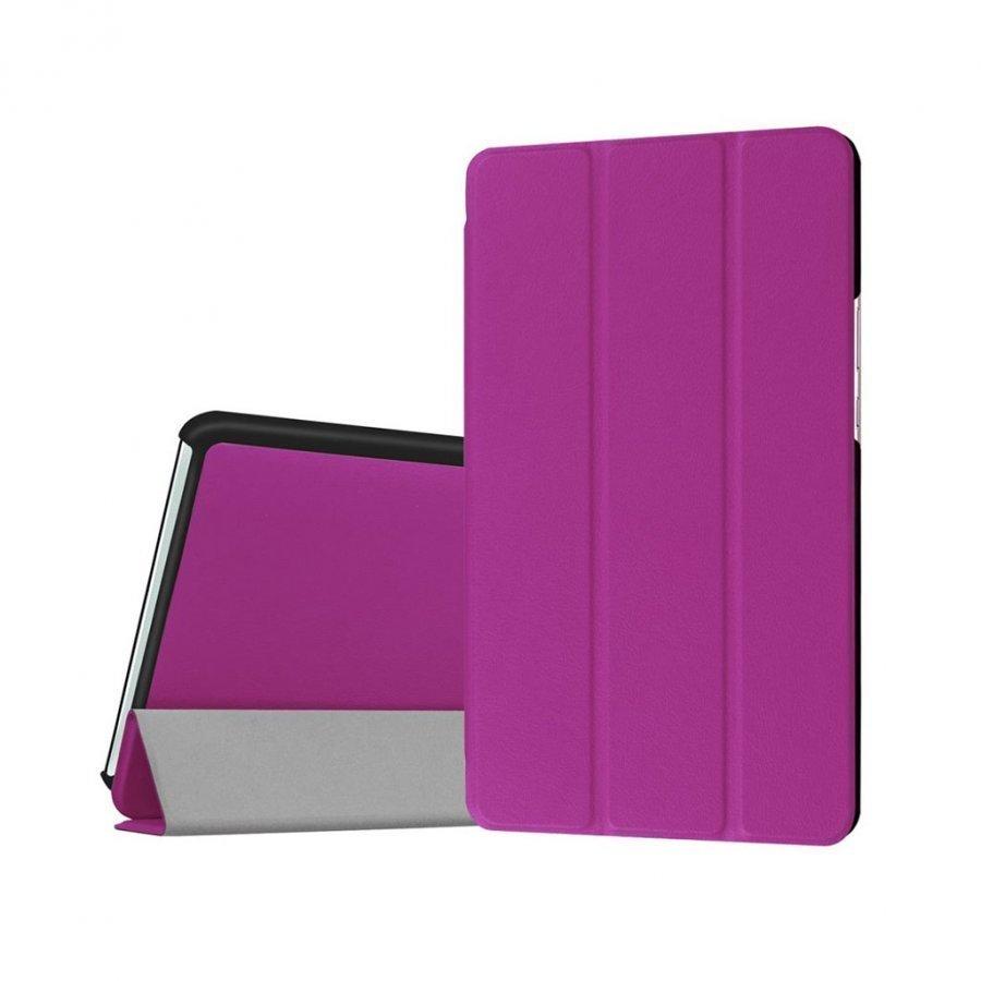Amdrup Huawei Mediapad M3 8.4 Kolmesti Taittuva Nahkakotelo Violetti