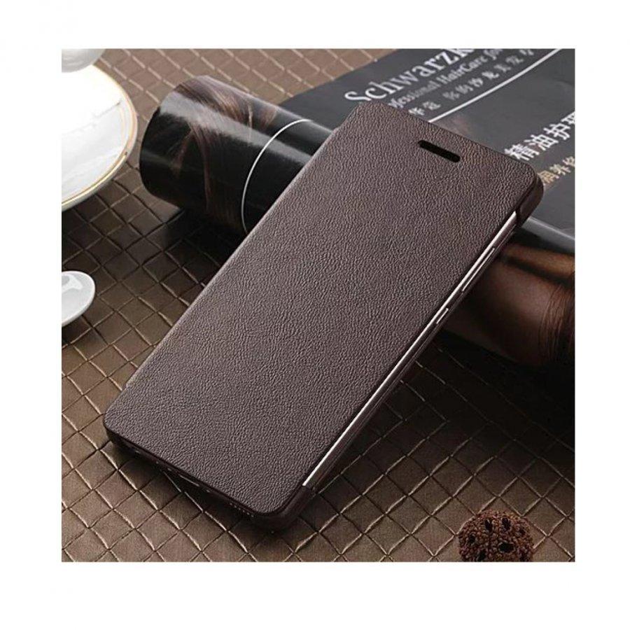 Amdrup Huawei P9 Erittäin Ohut Nahkakotelo Läpällä Kahvi