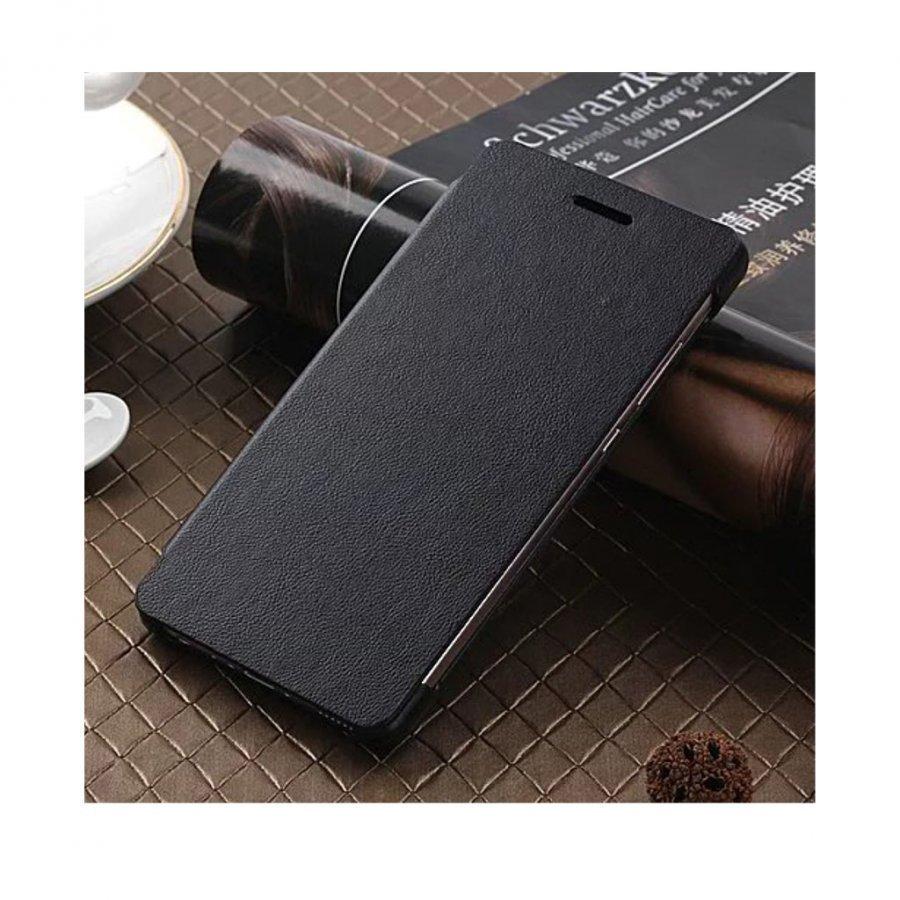 Amdrup Huawei P9 Erittäin Ohut Nahkakotelo Läpällä Musta