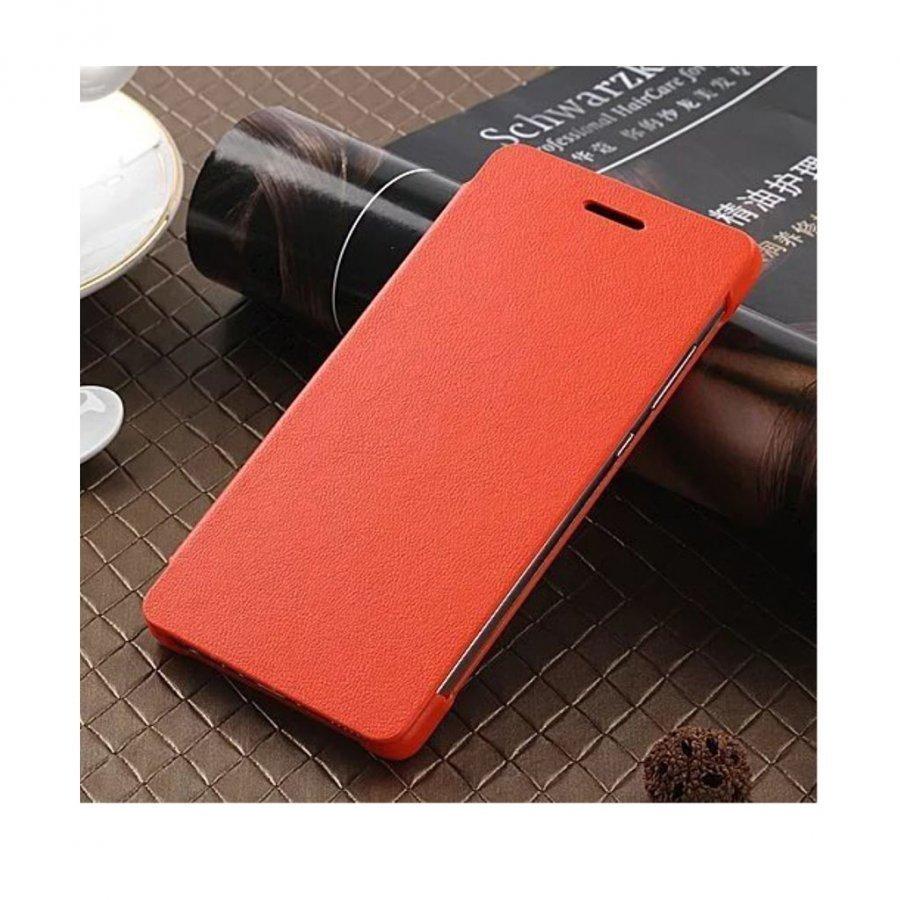 Amdrup Huawei P9 Erittäin Ohut Nahkakotelo Läpällä Oranssi