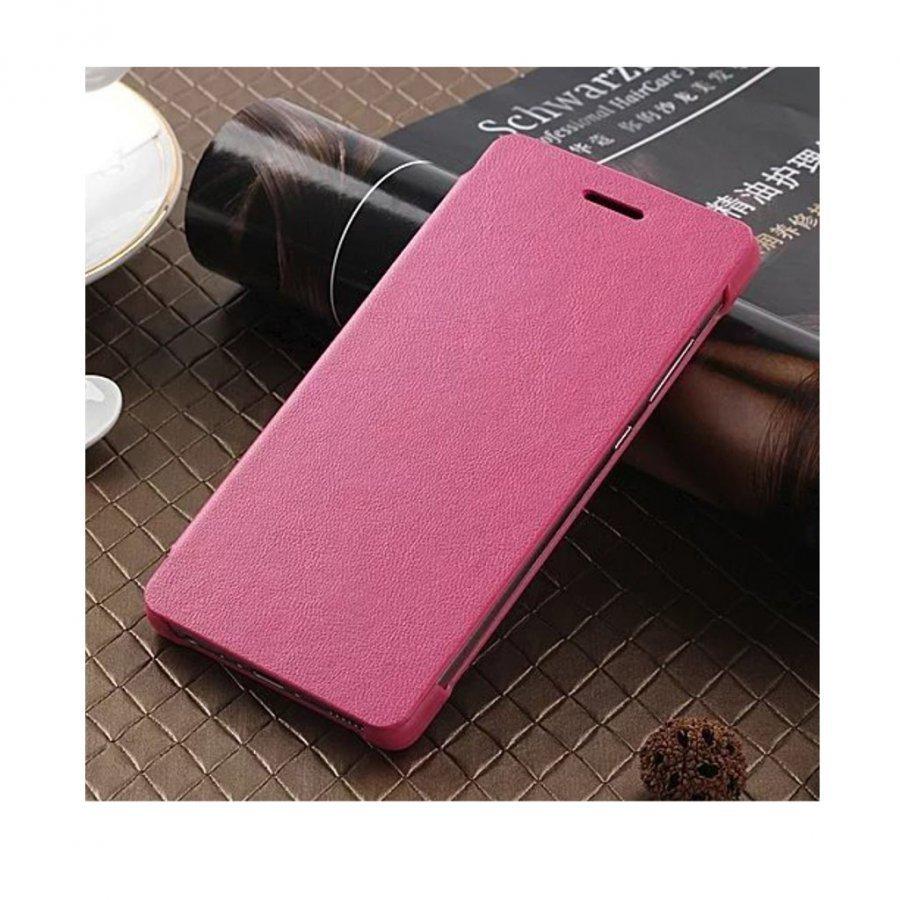 Amdrup Huawei P9 Erittäin Ohut Nahkakotelo Läpällä Pinkki