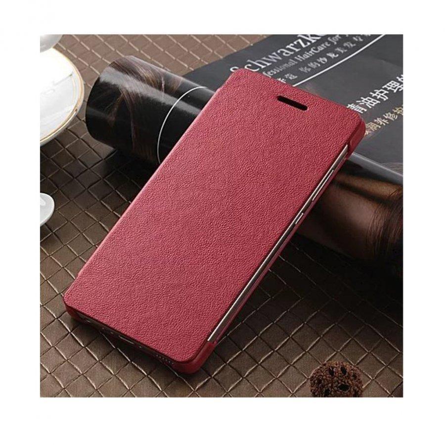 Amdrup Huawei P9 Erittäin Ohut Nahkakotelo Läpällä Punainen