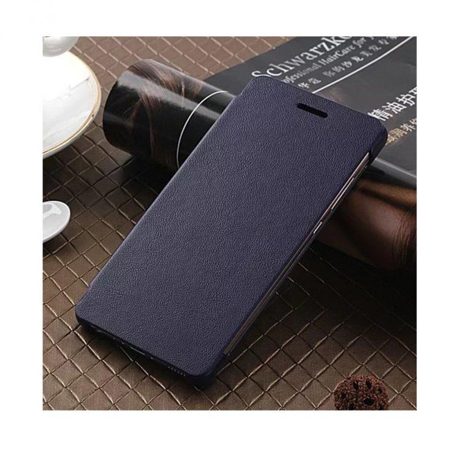 Amdrup Huawei P9 Erittäin Ohut Nahkakotelo Läpällä Tummansininen