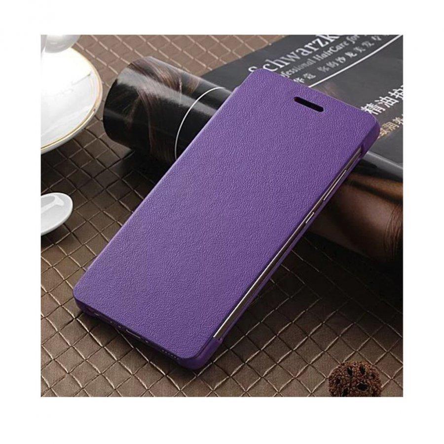 Amdrup Huawei P9 Erittäin Ohut Nahkakotelo Läpällä Violetti