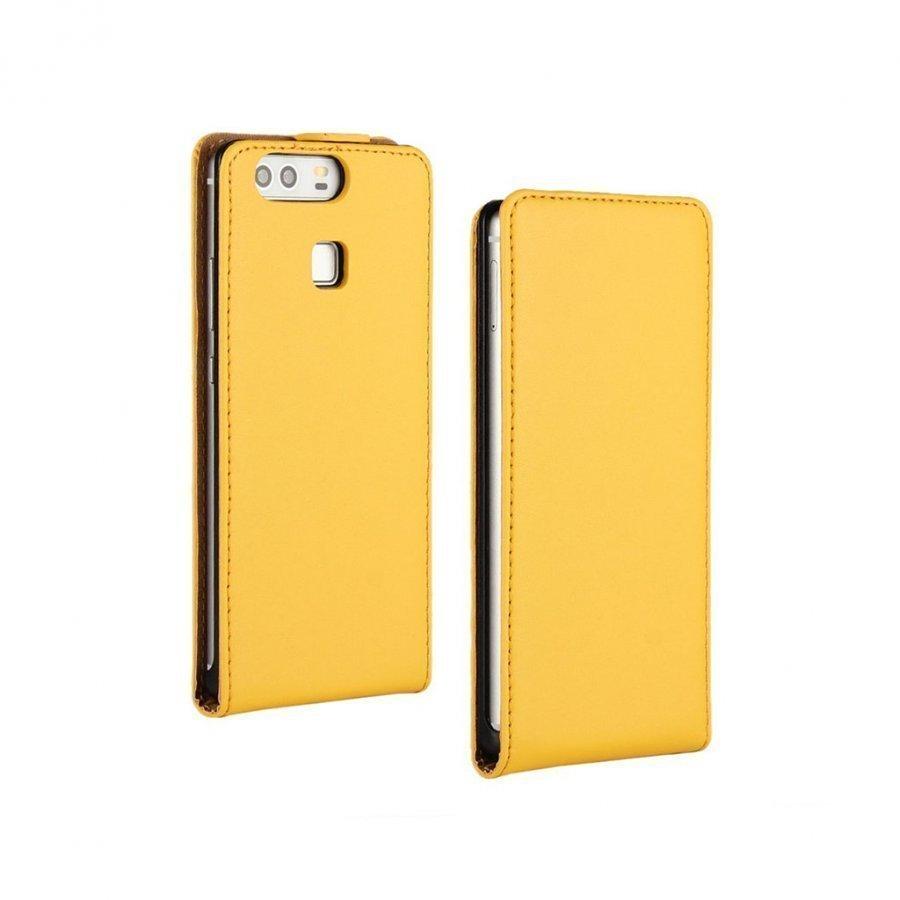 Amdrup Huawei P9 Suojaava Aito Nahkakotelo Keltainen