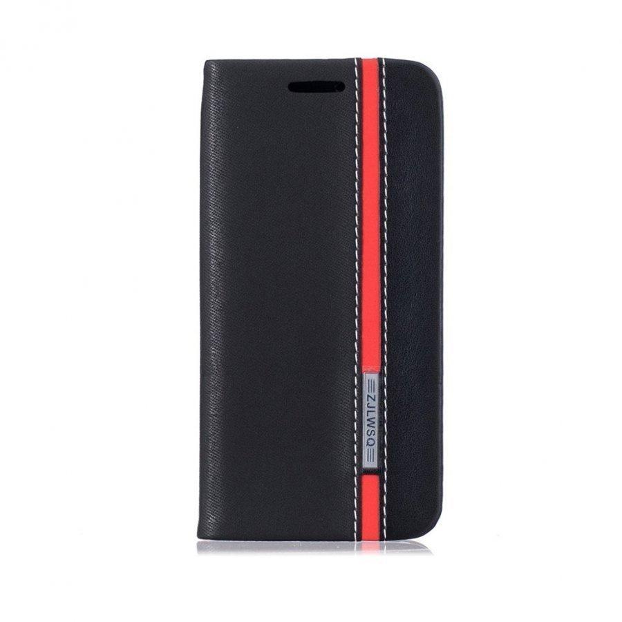 Amdrup Iphone 7 Kaksivärinen Nahkakotelo Musta