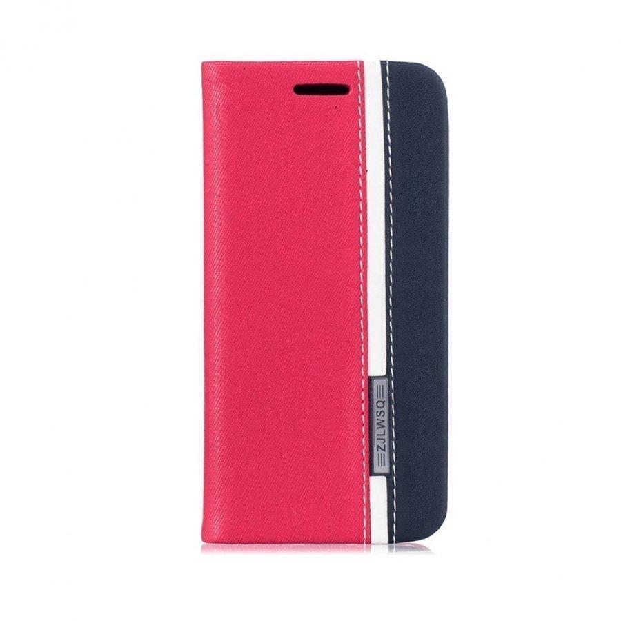Amdrup Iphone 7 Kaksivärinen Nahkakotelo Punainen