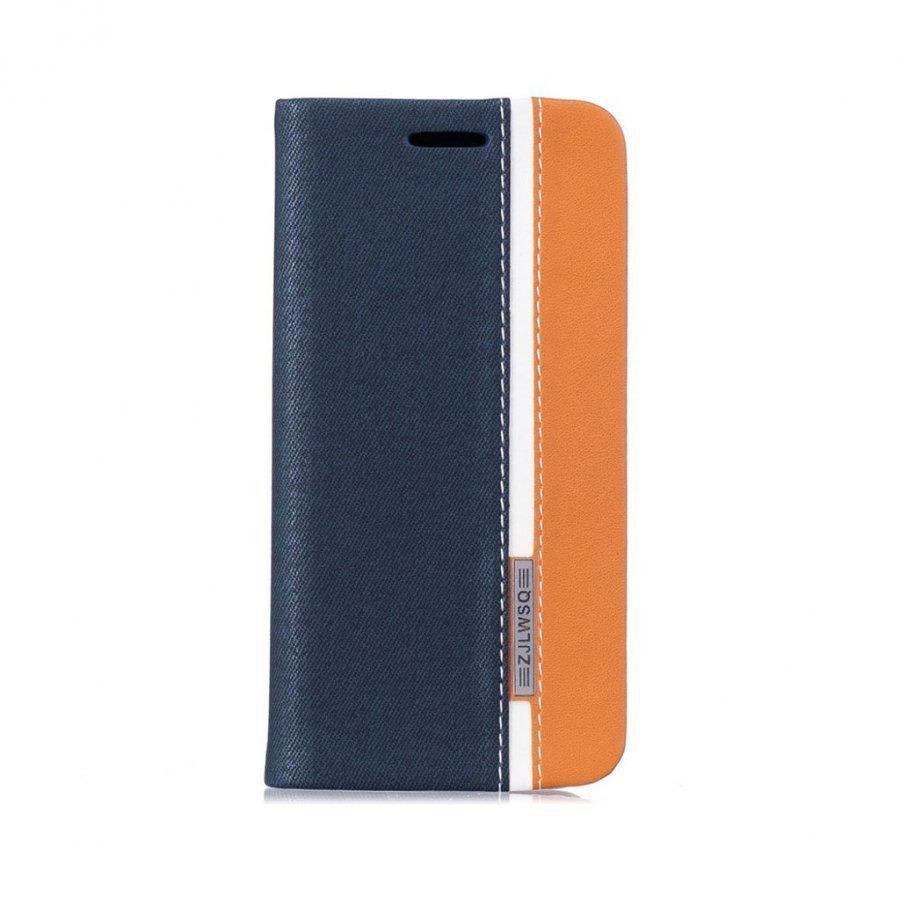 Amdrup Iphone 7 Kaksivärinen Nahkakotelo Tummansininen