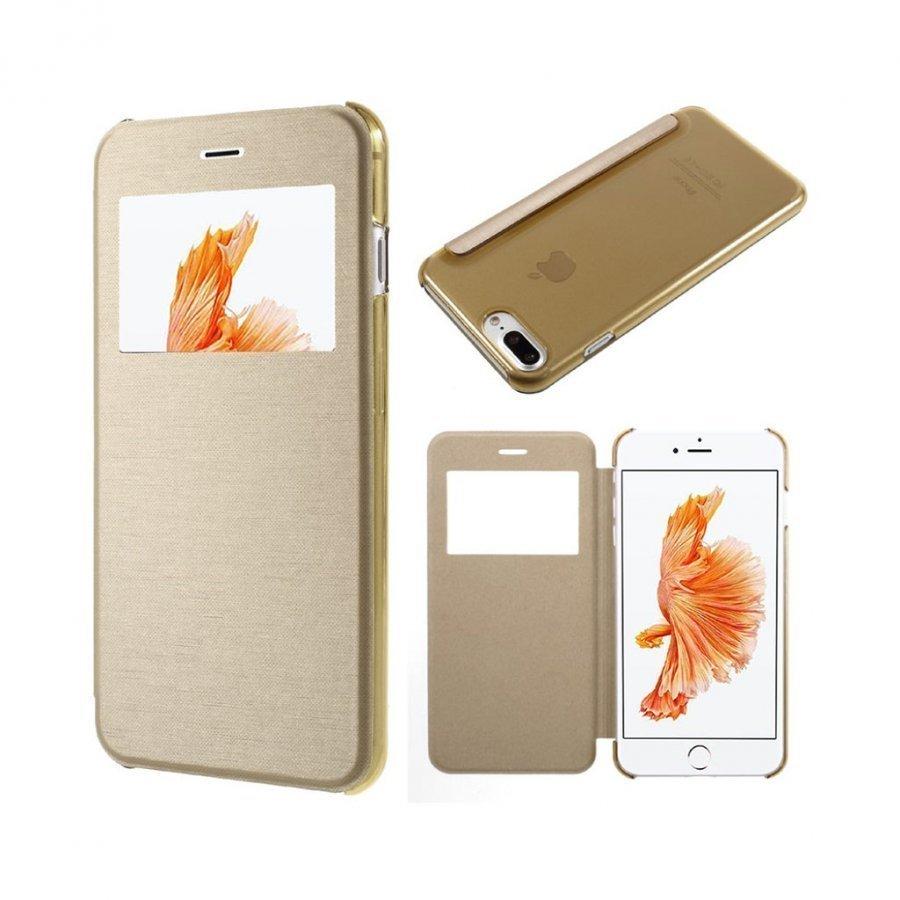 Amdrup Iphone 7 Plus Nahkakotelo Ikkunalla Kulta