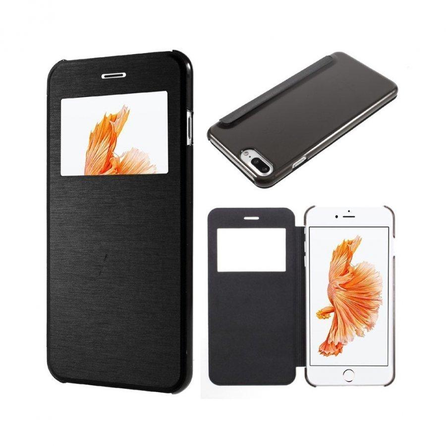 Amdrup Iphone 7 Plus Nahkakotelo Ikkunalla Musta