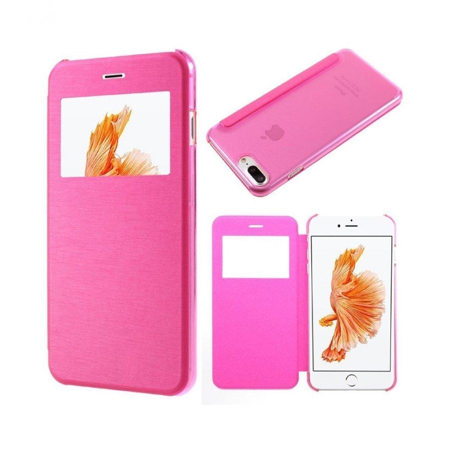 Amdrup Iphone 7 Plus Nahkakotelo Ikkunalla Pinkki