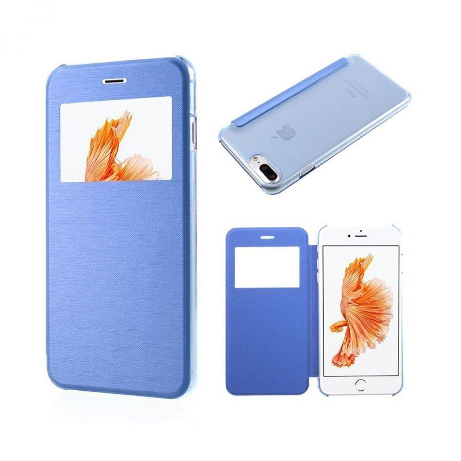 Amdrup Iphone 7 Plus Nahkakotelo Ikkunalla Sininen