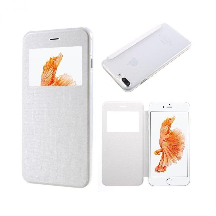 Amdrup Iphone 7 Plus Nahkakotelo Ikkunalla Valkoinen