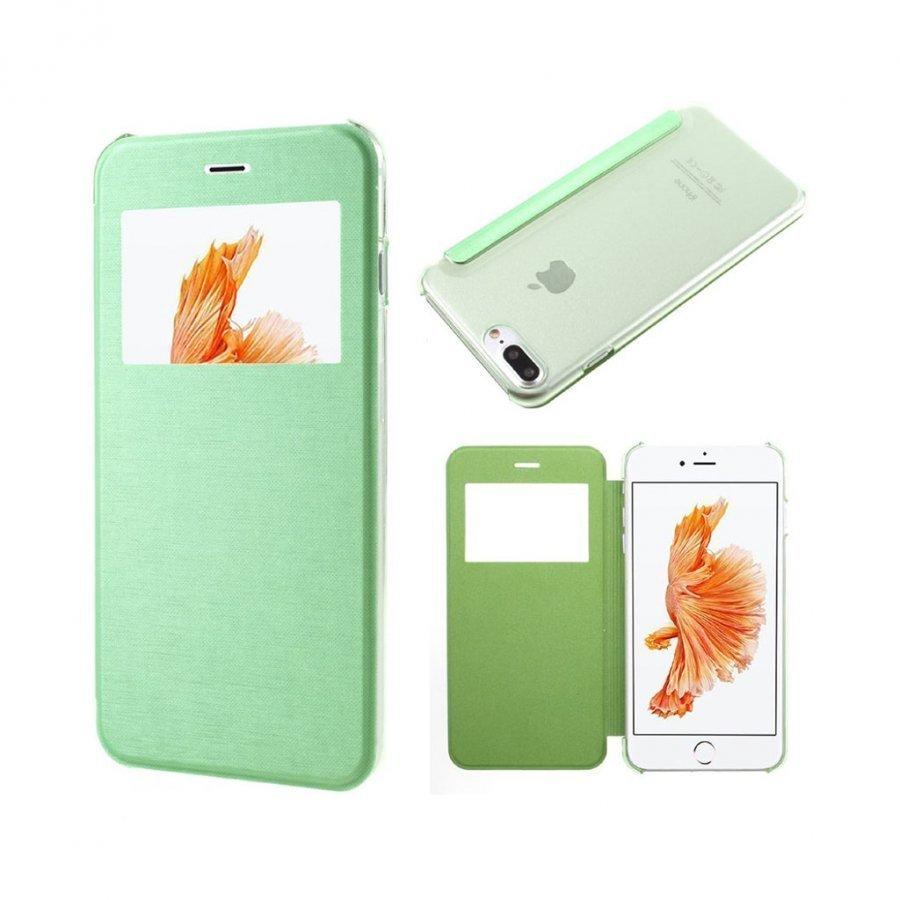 Amdrup Iphone 7 Plus Nahkakotelo Ikkunalla Vihreä