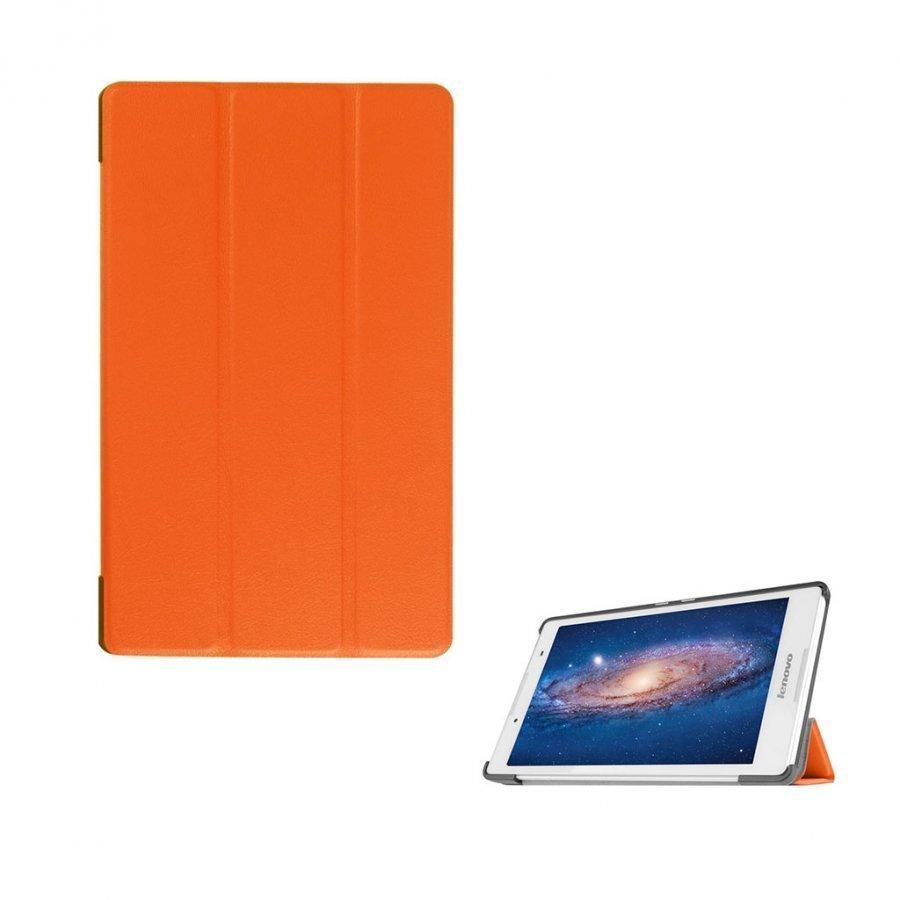 Amdrup Lenovo Tab 3 8.0 Nahkakotelo Standillä Oranssi