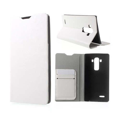 Amdrup Lg G4 Nahkakotelo Korttitaskuilla Valkoinen