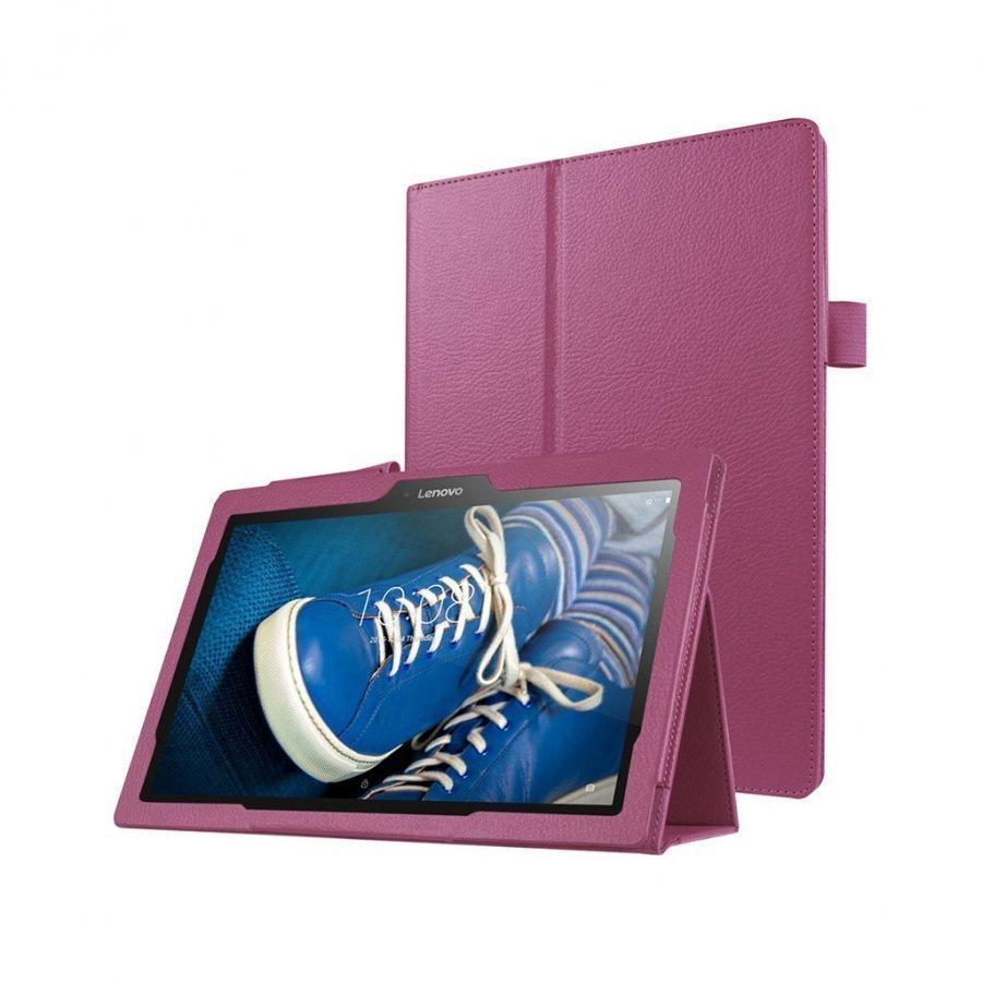 Amdrup Litsi Pintainen Nahkakotelo Lenovo Tab 2 A10-30 X30f Tabletille Violetti