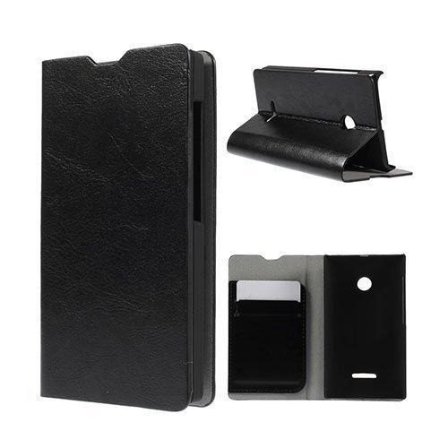 Amdrup Microsoft Lumia 532 Nahkakotelo Korttitaskuilla Musta