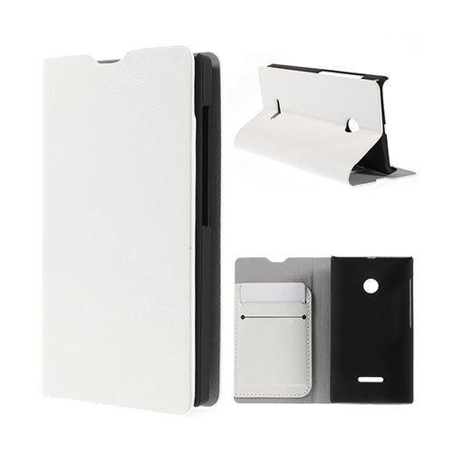 Amdrup Microsoft Lumia 532 Nahkakotelo Korttitaskuilla Valkoinen
