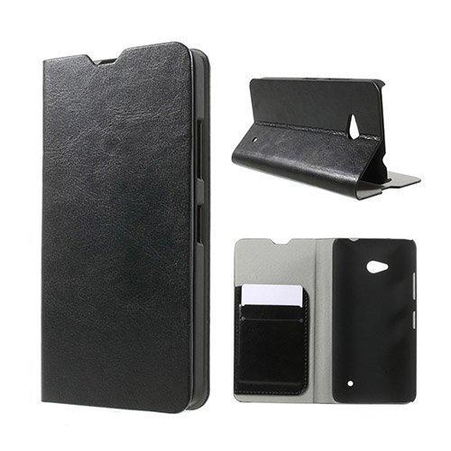 Amdrup Microsoft Lumia 640 Nahkakotelo Korttitaskuilla Musta