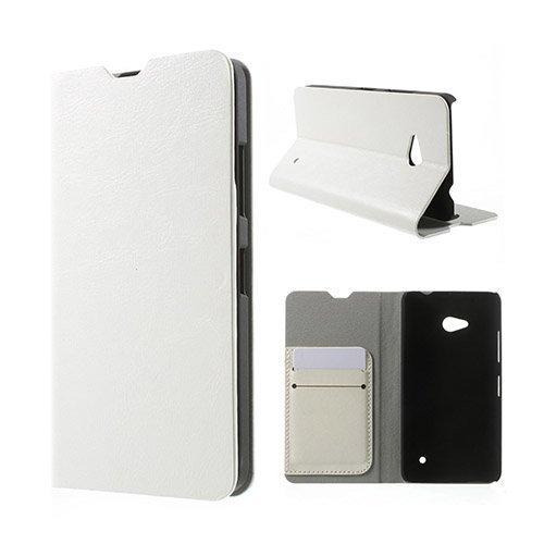 Amdrup Microsoft Lumia 640 Nahkakotelo Korttitaskuilla Valkoinen