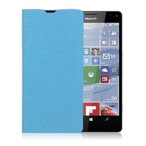 Amdrup Microsoft Lumia 950 Nahkakotelo Standillä Sininen