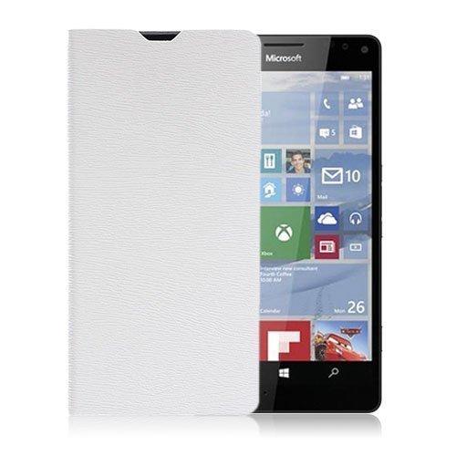 Amdrup Microsoft Lumia 950 Nahkakotelo Standillä Valkoinen