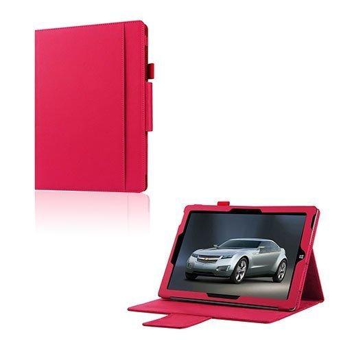 Amdrup Microsoft Surface 3 Nahka Kääntökotelo Tumma Pinkki