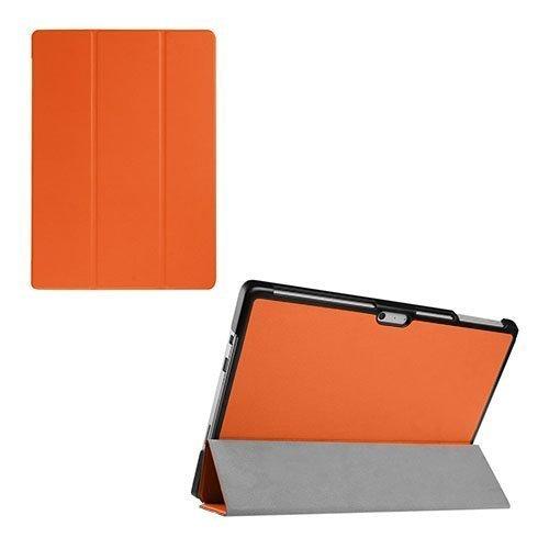 Amdrup Microsoft Surface Pro 4 Kolmesti Taittuva Nahkakotelo Orange