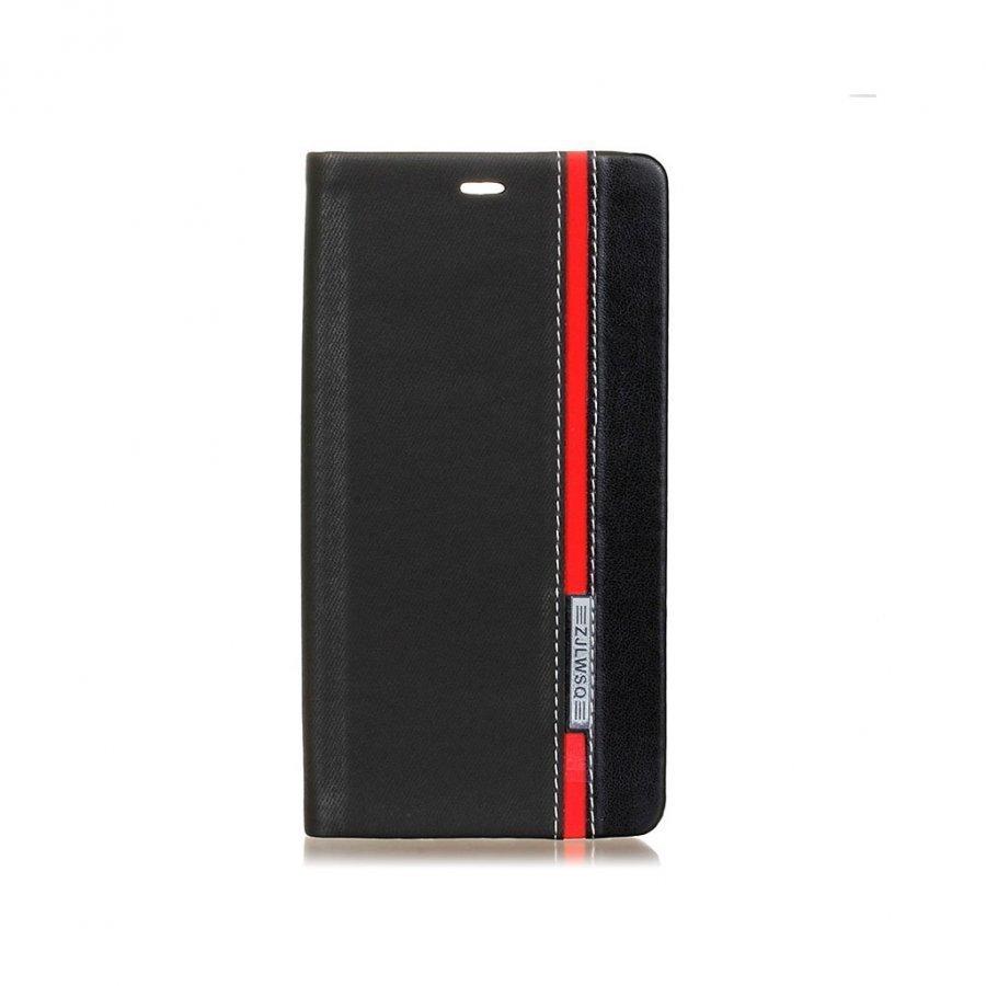 Amdrup Monivärinen Suojaava Nahkakotelo Huawei P9 Puhelimelle Musta