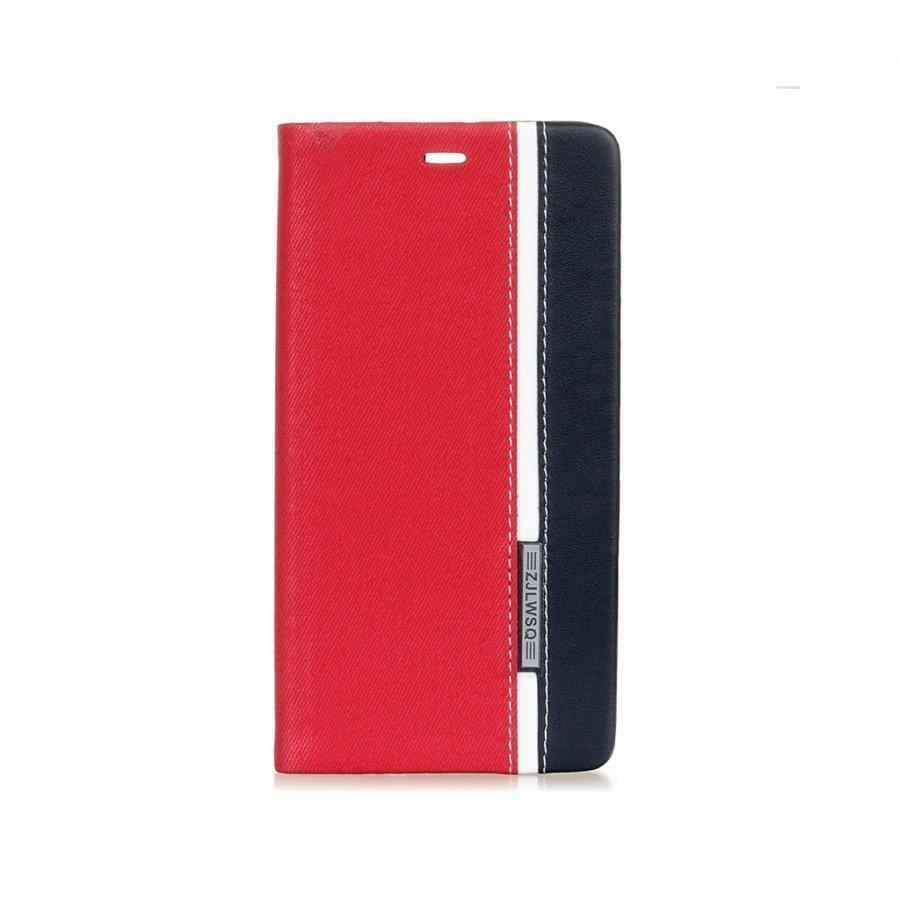 Amdrup Monivärinen Suojaava Nahkakotelo Huawei P9 Puhelimelle Punainen