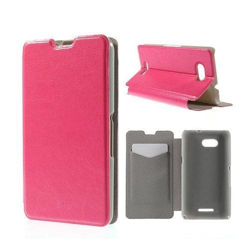 Amdrup Sony Xperia E4g Nahkakotelo Korttitaskuilla Kuuma Pinkki