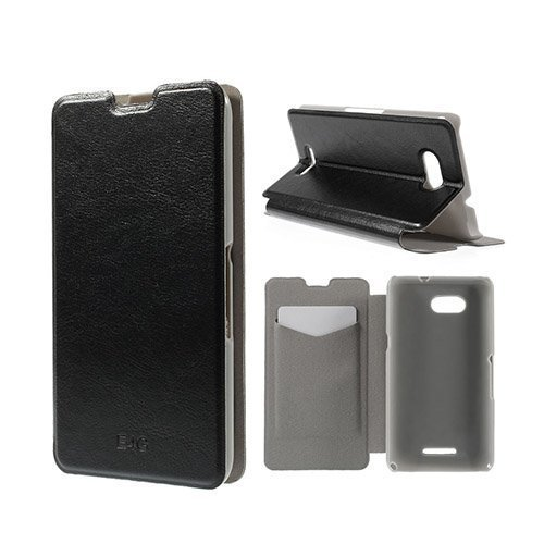 Amdrup Sony Xperia E4g Nahkakotelo Korttitaskuilla Musta