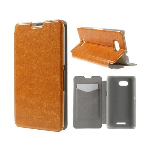 Amdrup Sony Xperia E4g Nahkakotelo Korttitaskuilla Oranssi