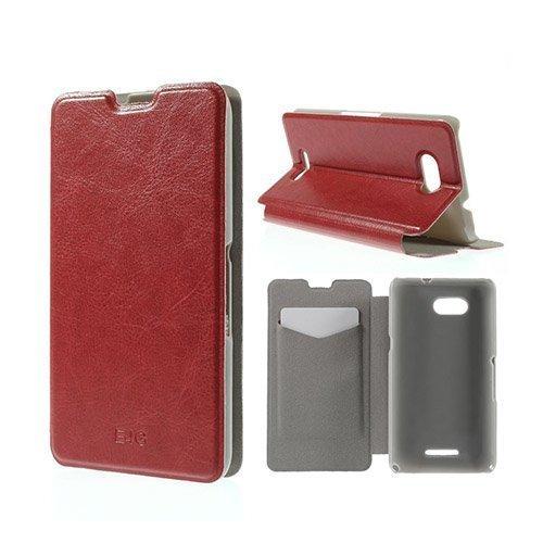 Amdrup Sony Xperia E4g Nahkakotelo Korttitaskuilla Punainen