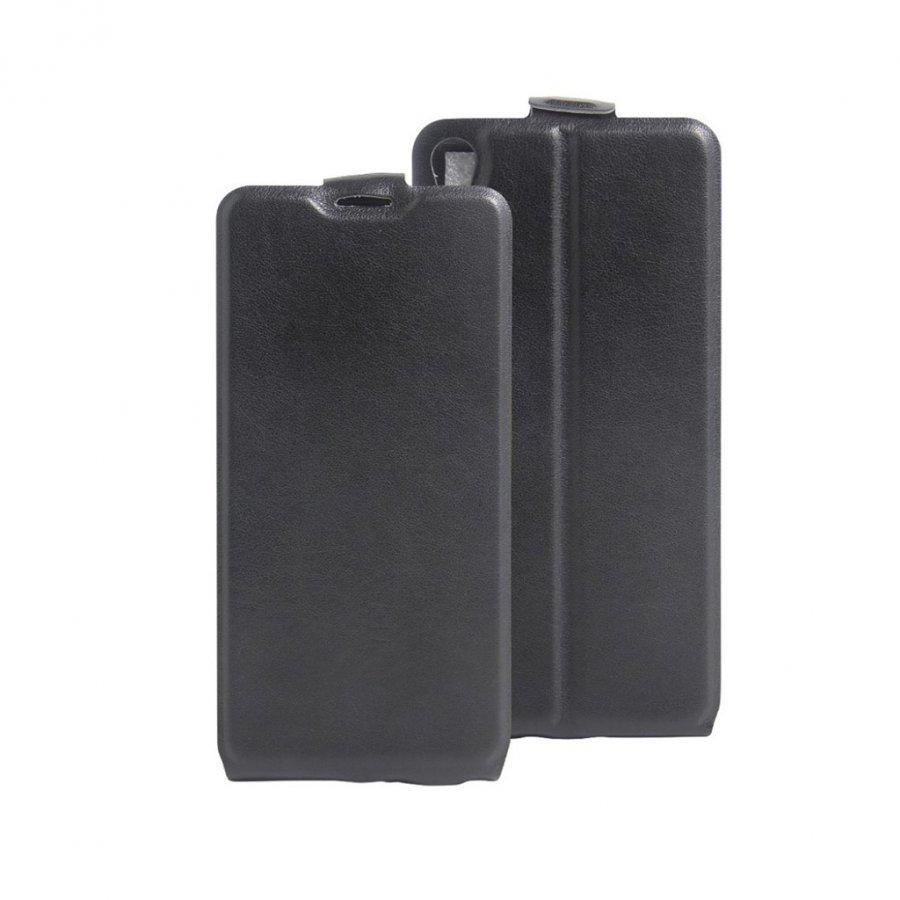 Amdrup Sony Xperia E5 Pystysuora Nahkakotelo Läpällä Musta