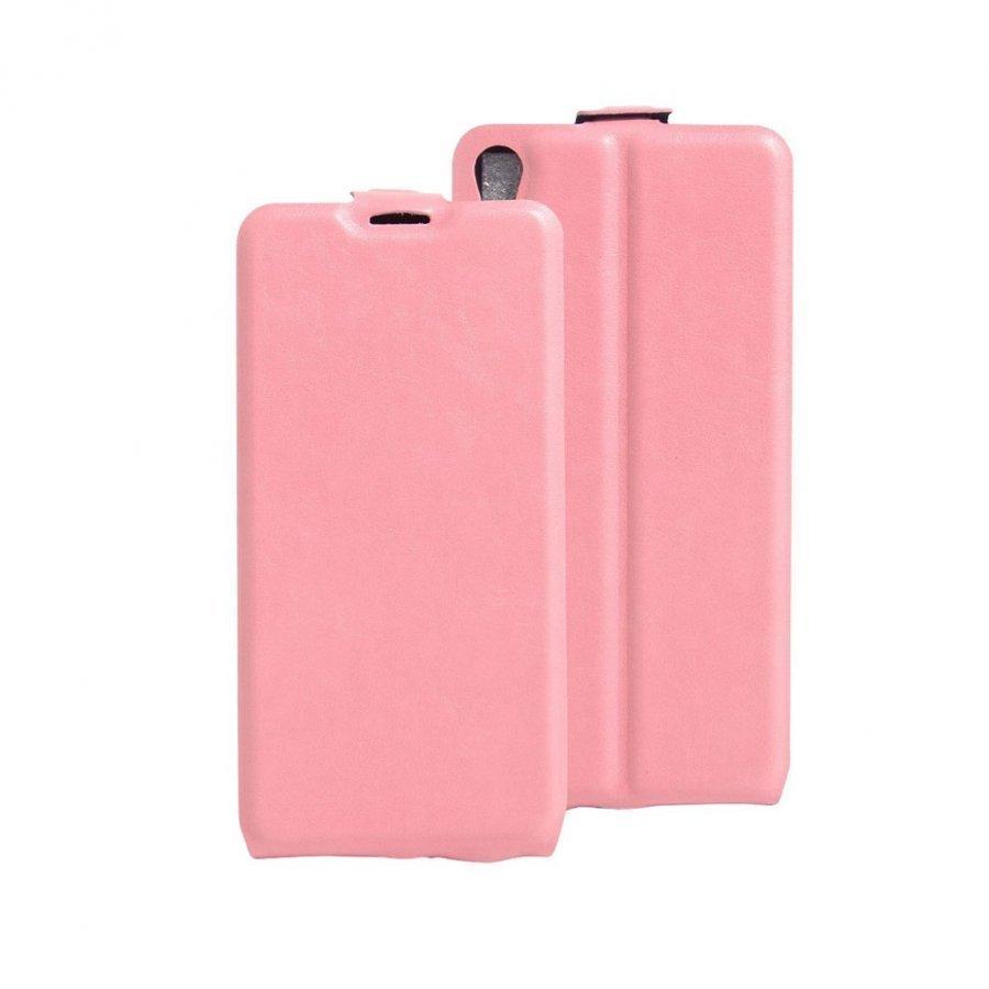 Amdrup Sony Xperia E5 Pystysuora Nahkakotelo Läpällä Pinkki