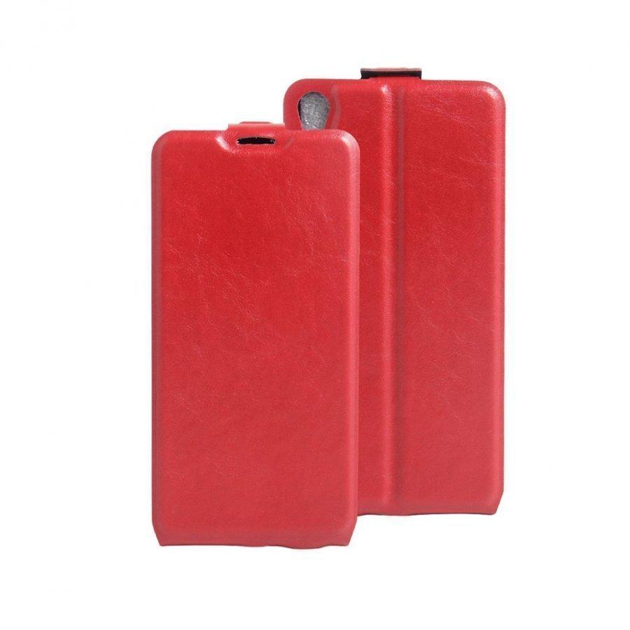 Amdrup Sony Xperia E5 Pystysuora Nahkakotelo Läpällä Punainen